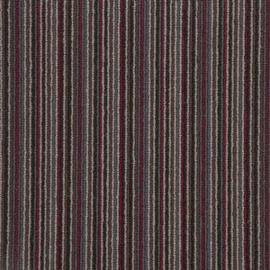 Red Charcoal Natural Wool Stripe Carpet