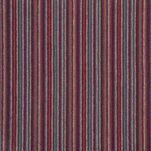 Load image into Gallery viewer, Red Plum Natural Wool Stripe Carpet