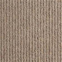 Load image into Gallery viewer, Taupe textured Loop lined 100% Natural Wool Carpet
