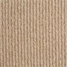 Load image into Gallery viewer, Beige textured Loop lined 100% Natural Wool Carpet