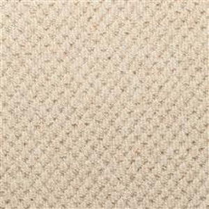 Cream textured Loop lined 100% Natural Wool Carpet