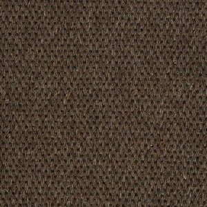 Dark Brown Woven Loop Pile 100% Wool Carpet