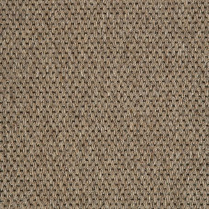 Brown Woven Loop Pile 100% Wool Carpet