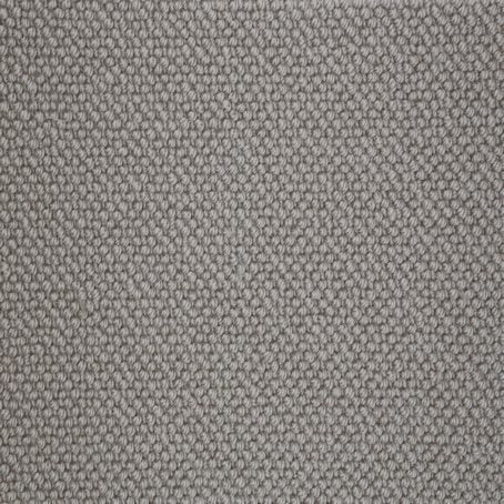 Grey Steel Natural Luxury 100% Wool Loop Carpet