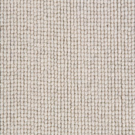 Arctic White Natural Loop Pile 100% Luxury Wool Carpet