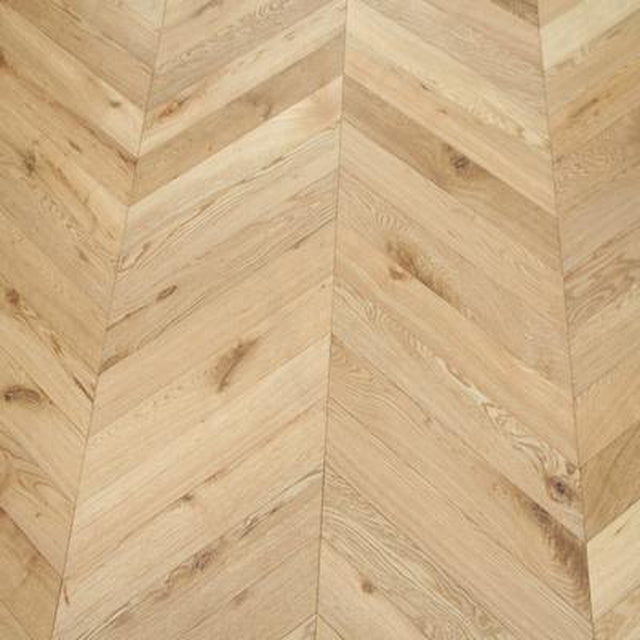 brushed oiled light chevron oak flooring