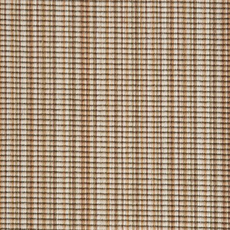 Amber Glow Natural Stripe Luxury 100% Wool Carpet