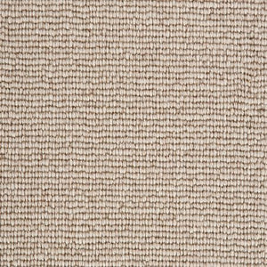Almond Beige Natural 100% Wool Loop Carpet