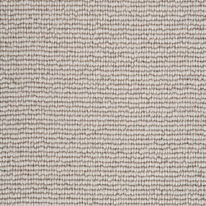 Chalk Light Grey Natural 100% Wool Loop Carpet