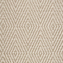 Load image into Gallery viewer, Chalk Light Diamond Patterned 100% Wool Loop Carpet