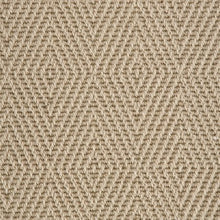 Load image into Gallery viewer, Lichen Brown Diamond Patterned 100% Wool Loop Carpet