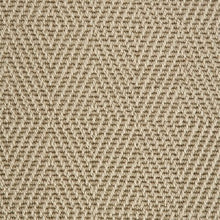 Load image into Gallery viewer, Willow Fawn Diamond Patterned 100% Wool Loop Carpet