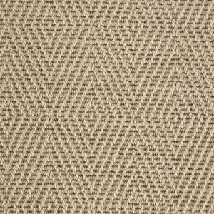 Willow Fawn Diamond Patterned 100% Wool Loop Carpet