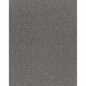 Ash Dark Grey Luxury Chevron style 100% Wool Carpet
