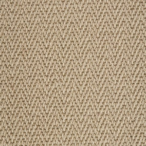 Lichen Brown Luxury Chevron style 100% Wool Carpet