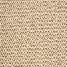 Load image into Gallery viewer, Linen Light Brown Luxury Chevron style 100% Wool Carpet