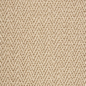 Linen Light Brown Luxury Chevron style 100% Wool Carpet