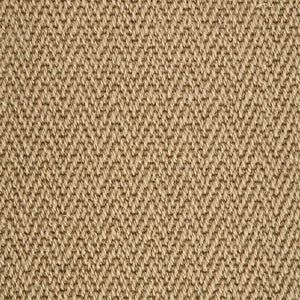 Stone Brown Luxury Chevron style 100% Wool Carpet