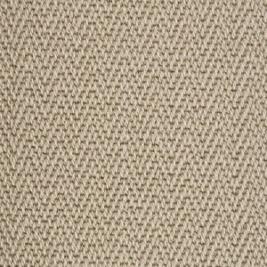 Willow Beige Luxury Chevron style 100% Wool Carpet
