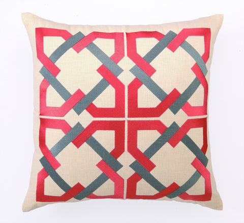 Andre Pillow - Red/Grey