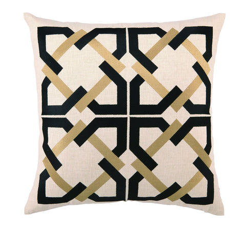 Andre Pillow - Black/Taupe