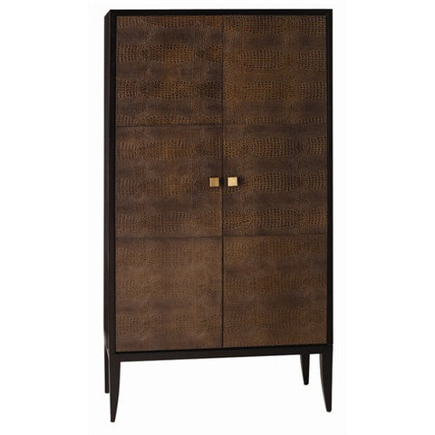 Loire Croc Embossed Cabinet - Brown