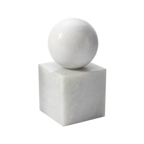 Leland Marble Bookend-White