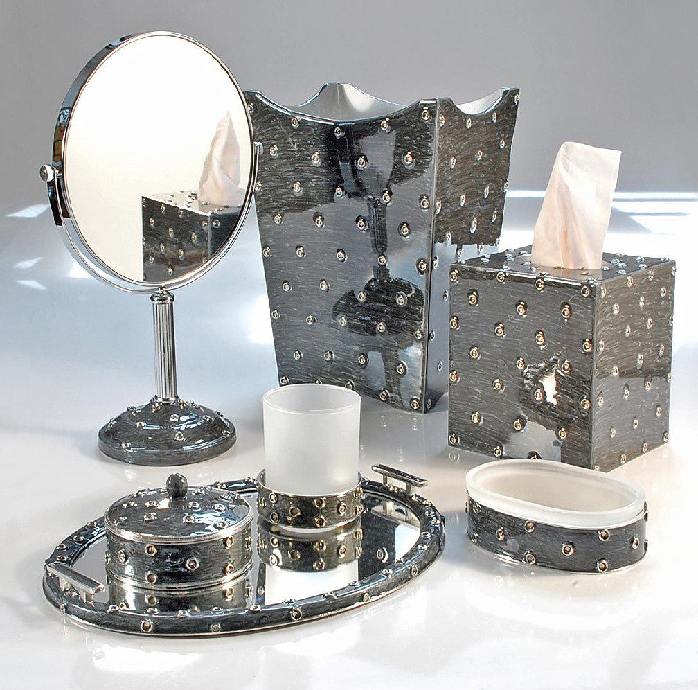 Chateau360 stardust bath accessories for Blue and silver bathroom accessories