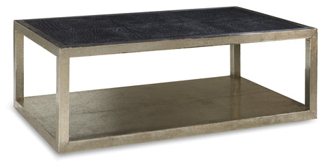 Trestino Croc Leather Cocktail Table