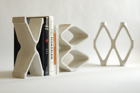 Architectural Pottery X/OO Bookends
