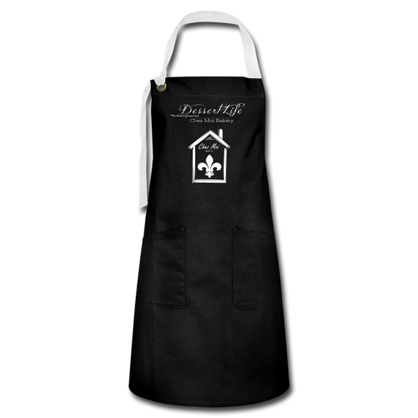 DessertLife #NoSharingRequired Artisan Apron - black/white