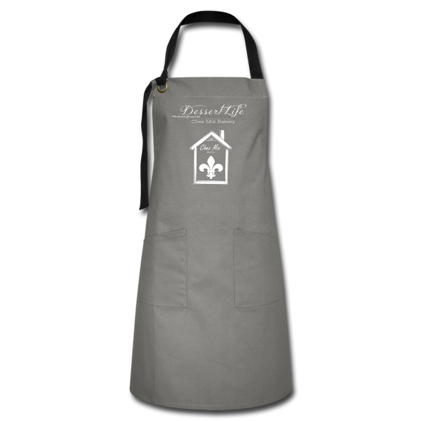 DessertLife #NoSharingRequired Artisan Apron - gray/black