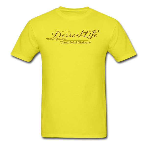 DessertLife #NoSharingRequired T-Shirt - yellow