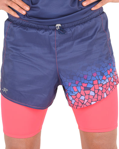 Men's 2in1 Woven short