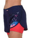Women's 2in1 Woven short