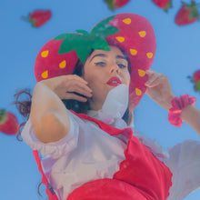 Load image into Gallery viewer, Red Strawberry Heart Hat
