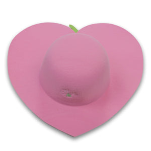 Pink Strawberry Heart Hat