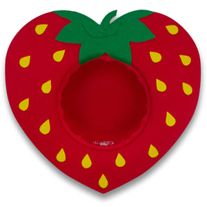 Red Strawberry Heart Hat