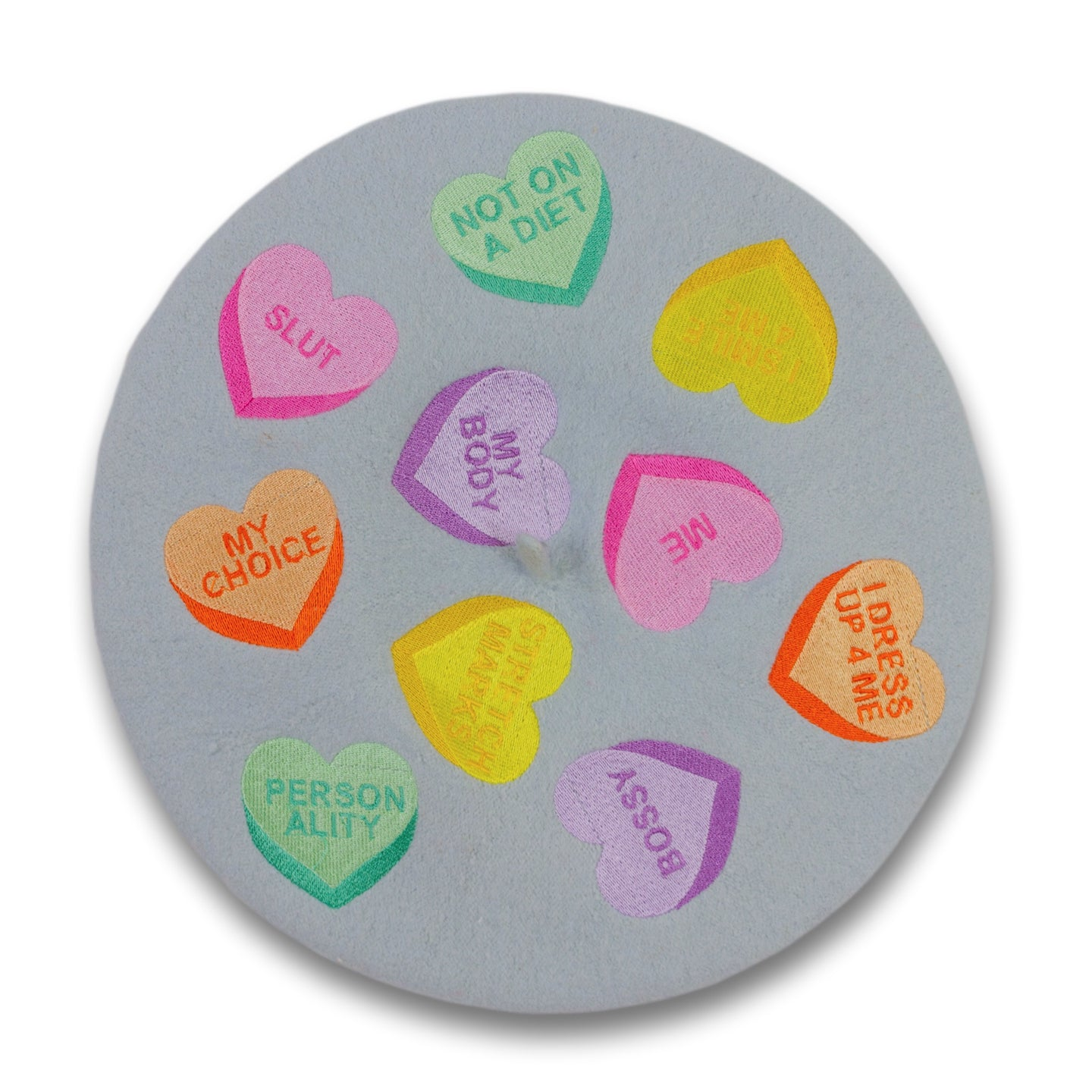 Self Love Candy Hearts Beret
