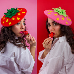 Red Strawberry Beret