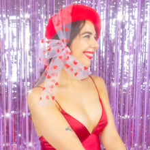 Load image into Gallery viewer, You're Tulle Sweet Beret in Red