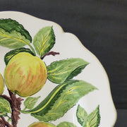 Feston Plate with hand painted Pouplard Pomme decoration