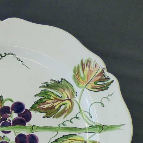 Feston Plate with hand painted Pouplard Raisin decoration