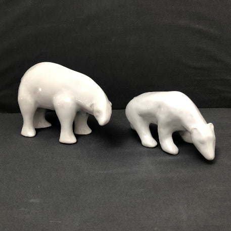 White Earthenware Small Pouplard Bear