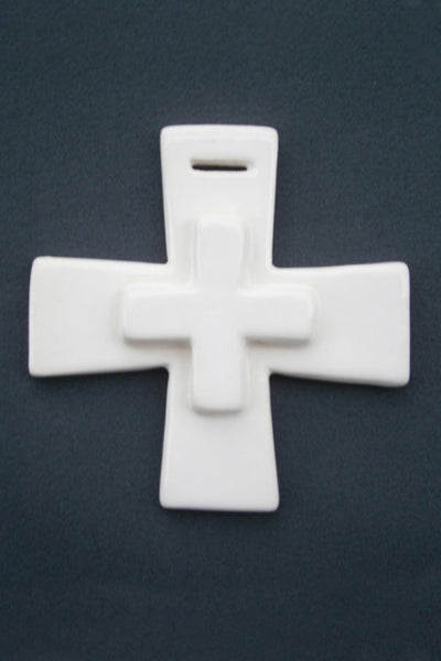 Earthenware Double Square Cross