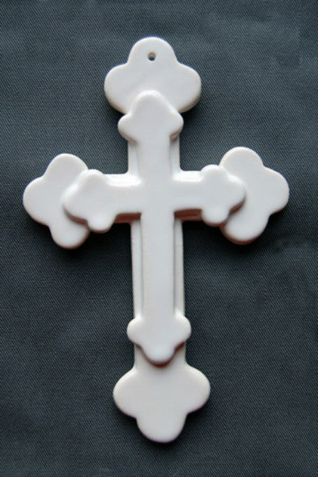 Earthenware Double Heraldic Cross