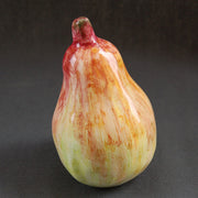 Earthenware Red, Yellow and Green Pear