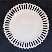 Openwork Bourg-Joly sur pied bas cake plate with a low stand