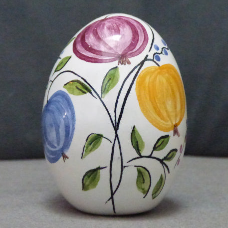 Egg with Antique Fruits polychrome hand painted decoration