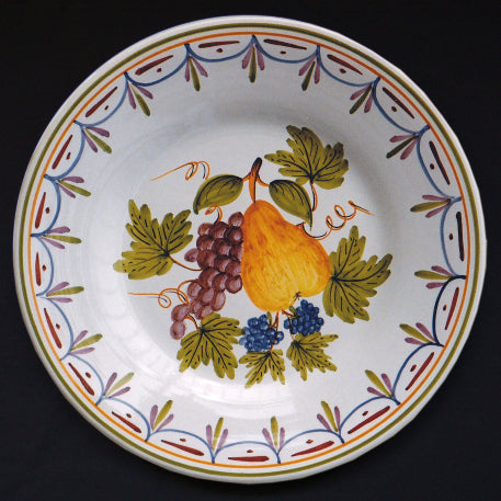 Bord Uni plate with Antique fruits 76 hand painted decoration